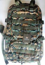 WIDEWAY Woodland Military Tactical Backpack 50L Survival Gear Assault  Rucksack