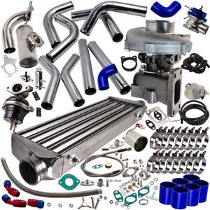 T3 T4 T04E Universal Turbo Stage III+Wastegate+Turbo Intercooler+piping 10PC Kit