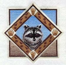 RACCOON TRIANGLE EMBROIDERED SET OF 2 BATHROOM TOWELS BY LAURA