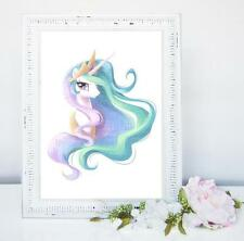 NEW UNICORN WORD ART PERSONALISED A4 GIFT BIRTHDAY GIRL PRINCESS PARTY GIFT
