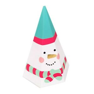 10X Christmas Triangle Party Paper Favour Candy Sweets Gift Box Xmas Bag