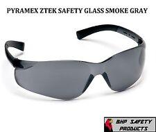 PYRAMEX ZTEK SAFETY GLASSES GRAY/SMOKE LENS S2520S SUNGLASSES WORK EYEWEAR Z87+