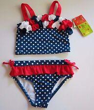 Penelope Mack Girl's 5 Red White Blue Patriotic 2 Pc Tankini Bikini Swimsuit