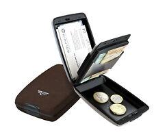 Tru Virtu Leder Portemonnaie RFID-Schutz + Keditkarten-Etui Leather Dark Tabacco