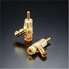 FURUTECH audio-grade banana plug 24K gold-plated FP-202(G) 4 this one set (new)