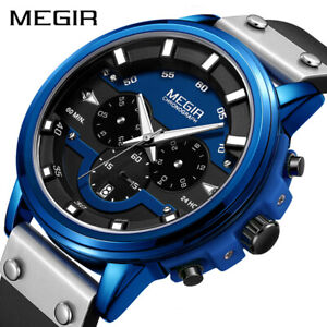 MEGIR Watch Men Sport Waterproof Mens Watches Top Brand Luxury Quartz Wristwatch