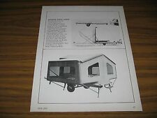 1970 Print Ad Mossberg Marine Camper 14 Ft Boat & Tent Camping Trailer