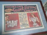 Thomson's Corsets Litho Circa 1900 Free Shipping