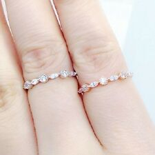 Silver Thin Eternity CZ Band Ring Sterling Silver 925 Best Deal Jewelry