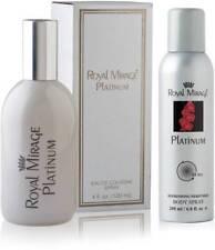 Royal Mirage Classic - Platinum EDC Perfume +Deodrant spray (Set of 2) FREE SHIP