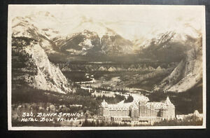 1950s Canada RPPC Postcard Cover To Euclid OH USA Banff Springs
