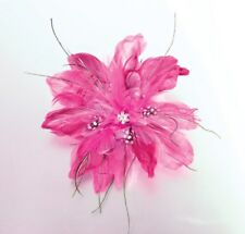 Feather Hair Clip-Hot Pink