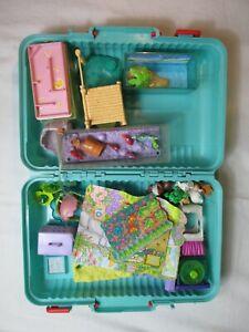 My Littlest Pet Shop 90er Firma Kenner Mädchen Spielzeug Konvolut im Koffer