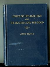 ALFRED OSMOND Lyrics of Life and Love the Beautiful & the good Vintage HB 1942