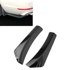 2pcs Carbon Fiber Style Car Rear Bumper Lip Diffuser Splitter Canard Protector