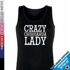 Crazy Chihuahua Lady Vest • Tank Top Dog Puppy Pet Lover Secret Santa Gift Cute
