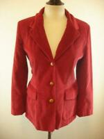 Womens 12 Orvis Red Corduroy Jacket Blazer Suede Elbow Patches Sport Suit Coat