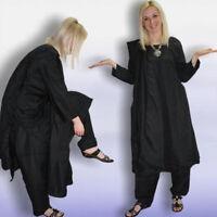 Salwar Kameez Kleid Hose Schal 42 Gr. XL Indien Bollywood Kostüm Schwarz 44