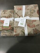 3pc Pottery Barn Grace Floral King / Cal King Duvet King Shams #691