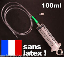 Grosse Seringue 100ml CE sans latex triple contact + grande rallonge 1,20m Ø4mm