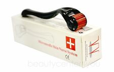 3 Pieces Derma Micro Needle Skin Roller Black  (0.5-1.0-1.5mm) Anti-aging,Scars