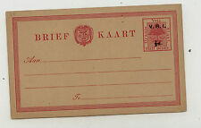 Orange Free  State postal  card  unused  overprinted            SSS0719