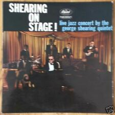 George Shearing quintet, shearing on stage, LP