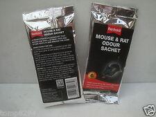 2 X SACHETS OF RENTOKIL MICE MOUSE & RAT ODOUR