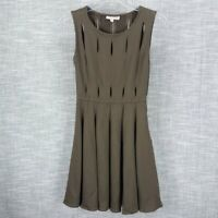 Opening Ceremony Olive Peep Dress Size XS Fit and Flare Cut Out