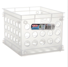Sterilite 1695 Mini Crate Stackable Storage Organizer Home & Office (6-Packs)