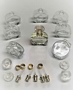 104 x Italienische Parfum Flakons – Runde Glasflasche - 50ml – inkl. Zubehör