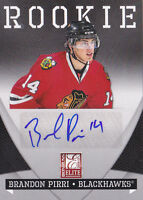 10-11 Zenith Brandon Pirri /99 Auto Rookie Donruss Elite Blackhawks 2010
