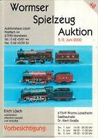 WORMSER SPIELZEUG AUKTION - Magazin Katalog Preise Eisenbahn Juni 2000 - B15077