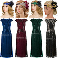 1920s Flapper Dresses Gatsby Party Wedding Evening Womens Costume Plus Size 8-20