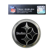 Promark New NFL Pittsburgh Steelers Plastic Chrome 3-D Auto Emblem Sticker Decal