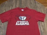 Vintage University Of Alabama Crimson Tide Elephant Logo Medium Red T Shirt
