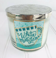 BATH & BODY WORKS HOME * White Mint Latte * 3 WICK CANDLE NEW