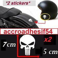 2 autocollant pirate skull punisher deco moto casque ipad voiture