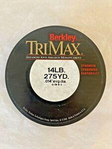 NEW: BERKLEY TRIMAX MONOFILAMENT 14lb CASTING FISHING LINE 275 YD ~ D21