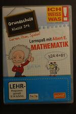 Ich weiss was! Lernspaß mit Albert E. Mathematik Grundschule,  Klasse 3+4,CD-ROM