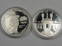 2 Silver Proof LA Olympic Silver US Commemorative Dollars: 1983-s & 1984-s.  #5