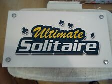 """ULTIMATE SOLITAIRE RADICA GAME CARD ROOM ARCADE 15""""x8.5"""" FOAM BOARD DISPLAY SIGN"""