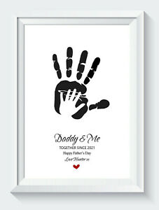 Personalised Fathers Day Gifts Birthday Daddy Daughter Son Unframed Print ONLY