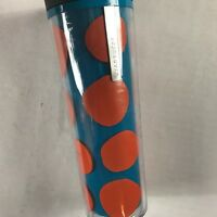 Starbucks Coffee Mug Travel 16oz Tumbler 2013 Blue Orange Pumpkins Fall Cup Gift