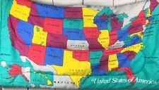 Vtg. Coleman Sleeping Bag Map United States    Roadtrip  RARE!