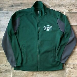 New York Jets Full Zip Authentic Jacket Adult Large Onfield Apparel NFL Coat