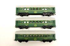 3 x Tempo Green Pullman Coaches HO Gauge Model Railway Rolling Stock V13
