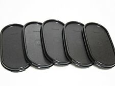 New TUPPERWARE Modular Mates Oval Seal Lid Cover Black Set (5 pcs)