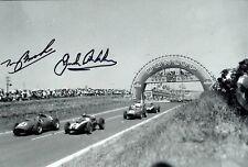 Tony Brooks & Jack Brabham (1926-2014) French Grand Prix 1959 Signed Photograph