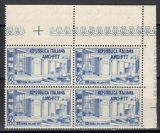 TRIESTE A 1952 Fiera di Milano MNH** in Quartina ADF